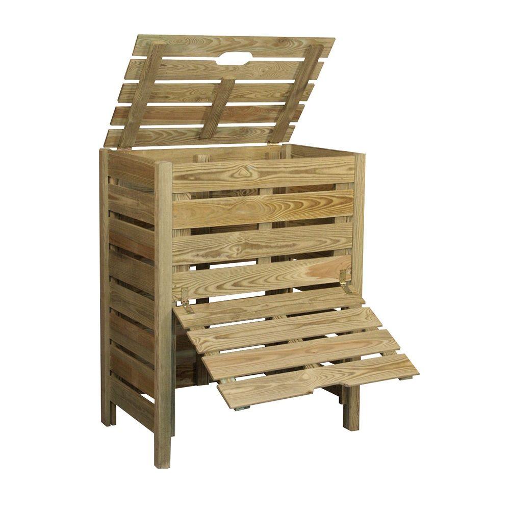 Composteur en bois 400L Jardipolys