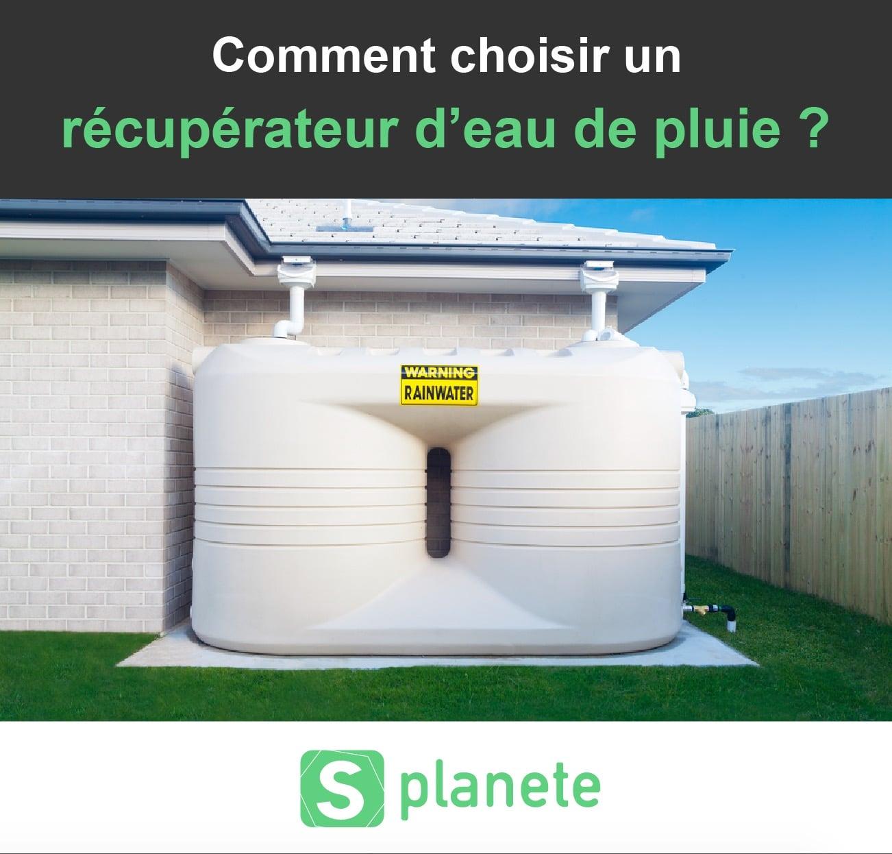 comment choisir un récupérateur d'eau