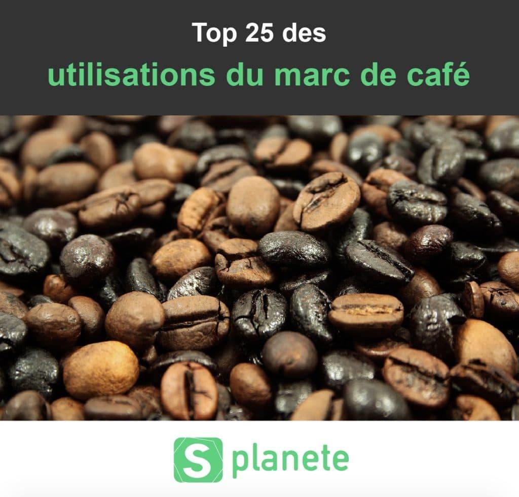 les utilisations du marc de café