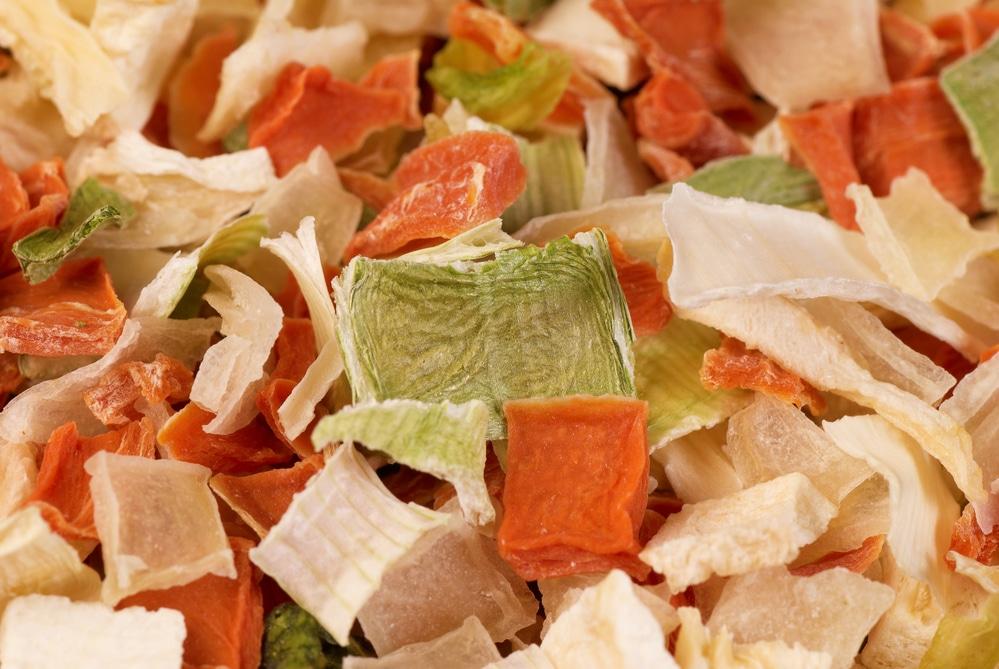 les légumes déshydratés