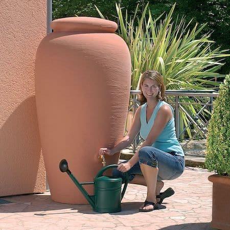 cuve d'eau de pluie de 500L terracotta Garantia