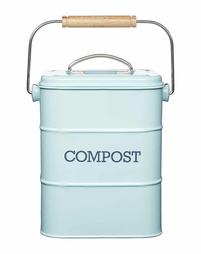Poubelle de compost en inox